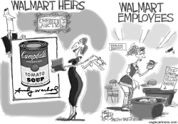 Walmart Welfare Queens by Pat Bagley