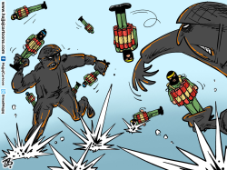 Suicide bombers by Emad Hajjaj