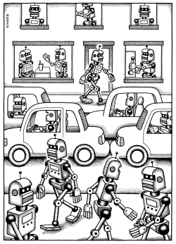 Robot World by Andy Singer