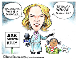 Megyn Kelly and white Santa by Dave Granlund