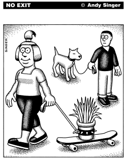 Happy Plant Walking by Andy Singer