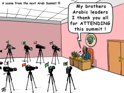 arab summit cameras by Emad Hajjaj