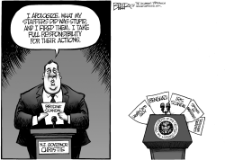 Christie Apology by Nate Beeler