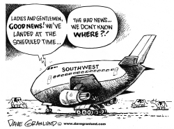 Southwest Airlines pilot error by Dave Granlund