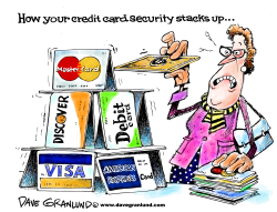 Credit card security by Dave Granlund