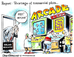 Pilot shortage by Dave Granlund