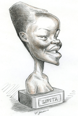 Oscar winner Lupita Nyongo -  by Taylor Jones