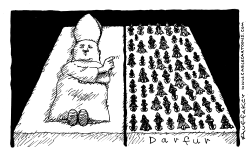 Darfur and the Pope by Huffaker