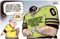 College Football Union  by Rick McKee