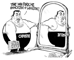 Christie Find Christie innocent by John Darkow