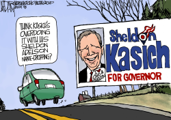 Gov John Kasich and Sheldon Adelson by Jeff Darcy