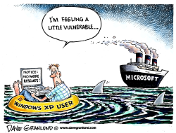 Windows XP support ends by Dave Granlund