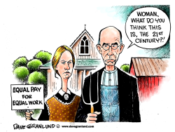 Equal pay for equal work by Dave Granlund