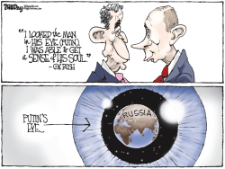 PUTIN'S EYE  color by Bill Day