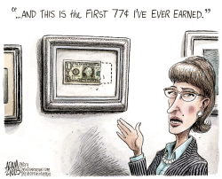 Women's Wages  by Adam Zyglis