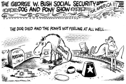 Social Security Dog and Pony Show by Mike Lane