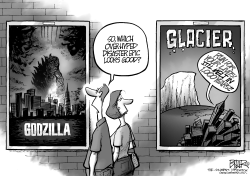 Godzilla and Glaciers by Nate Beeler
