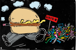 Fast Food Worker Revolt  by Randall Enos
