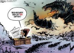 Scandalzilla  by Nate Beeler