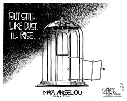 Maya Angelou by John Darkow