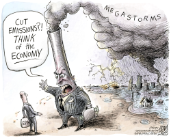 Climate and the Economy by Adam Zyglis