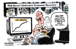 Wall Street Celebrates Economic Recovery by Jimmy Margulies