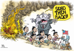 Send Back Those Immigrant Kids  by Daryl Cagle
