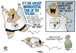 LOCAL- PA STEELERS TRAINING CAMP OPENS,  by Randy Bish