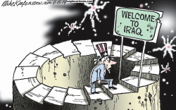 Back to Iraq  by Mike Keefe