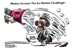 Obama Accepts The Ice Bucket Challenge color by Jimmy Margulies