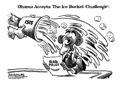 Obama Accepts The Ice Bucket Challenge by Jimmy Margulies