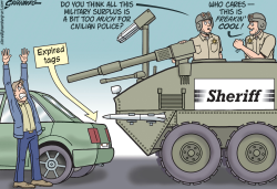 Militarized police by Steve Greenberg