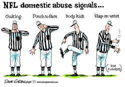 NFL and domestic violence by Dave Granlund