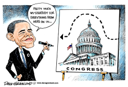 Obama strategy by Dave Granlund