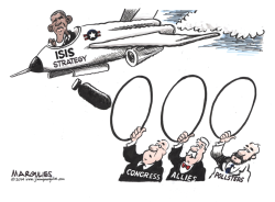 Obama ISIS Stategy color by Jimmy Margulies