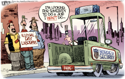 Illegal Day Laborers- -  ed by Rick McKee