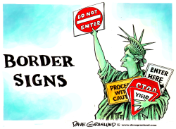 Border signs by Dave Granlund