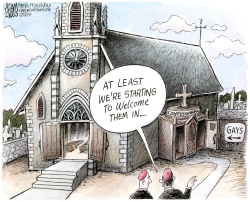 Church Synod  by Adam Zyglis