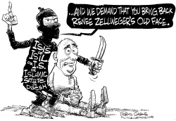 Renee Zellweger and ISIS by Daryl Cagle