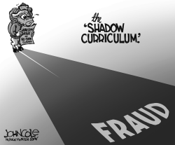 LOCAL NC -- UNC shadow curriculum BW by John Cole