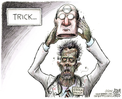 Ebola Policy Unmasked  by Adam Zyglis