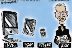 Apple CEO Cook by Milt Priggee
