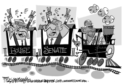 Obama Election Express by David Fitzsimmons