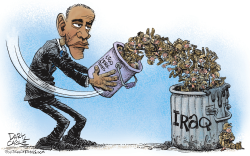Obama Sends More Troops to Iraq  by Daryl Cagle