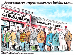Ferguson and retailers by Dave Granlund