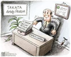 Takata Airbag  by Adam Zyglis