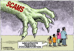 Immigration Scams  by Wolverton