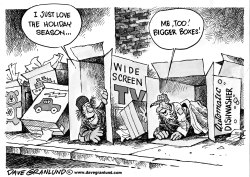 Holidays and Homeless by Dave Granlund
