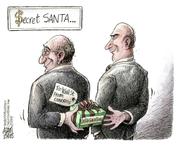 Gift to Wall Street  by Adam Zyglis