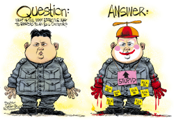 North Korea Response  by Daryl Cagle